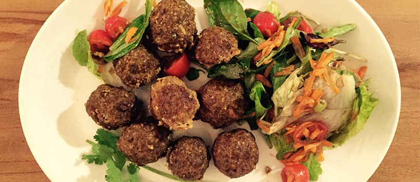 Meatballs mit Salat