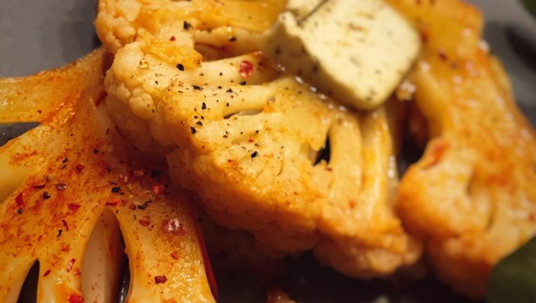 Blumenkohl Steak - FLOWGRADE - Rezepte vegetarisch vegan lecker MCT Keto