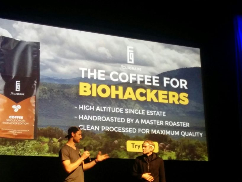 Flowgrade Kaffee Biohacker Edition at the Biohacker Summit London