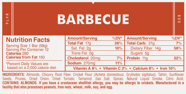 EXO BBQ Nutrition Facts