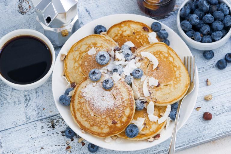 Kollagen Blaubeer-Pancakes