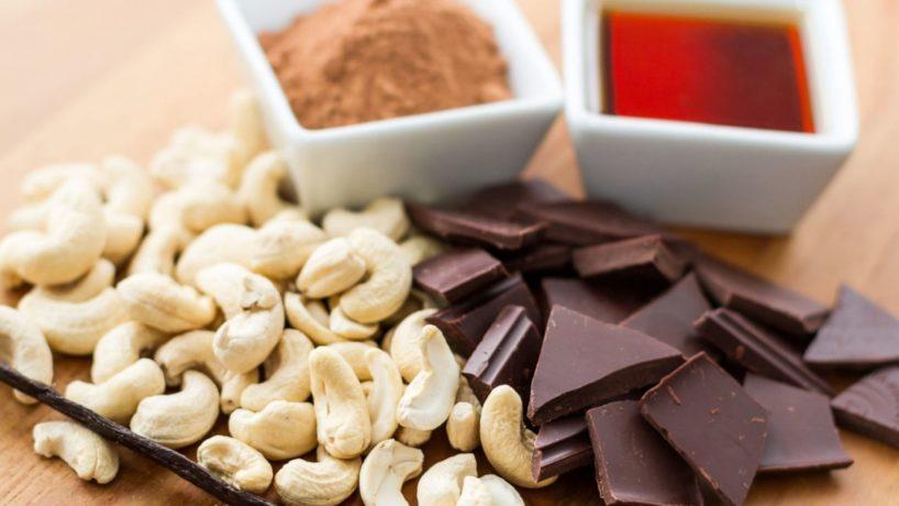 Schokolade Cashews Kakao