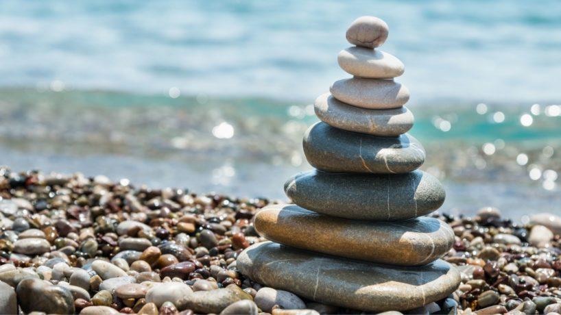 Ausruhen Zen Steine